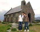 善き羊飼いの教会で記念撮影