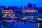 シンガポールリバー夜景
