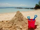 こんな砂遊びも