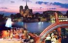 美しいパリの夜景を背景に優雅なディナー!!