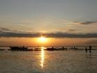 トンレサップ湖の夕日