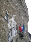 ヴェッキオ宮殿前 ダビデ像のレプリカ