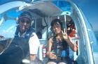 パイロットと記念撮影