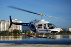 ヘリコプターでアウターリーフへ