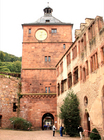 ハイデルベルク城の入口、時計塔(城門塔)