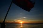 トンレサップ湖 夕日