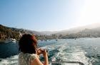フェリーからGood Bye Catalina Island