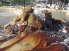 カラハユットの温泉の源泉