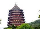 銭塘江の高潮を鎮めるために建立された塔「六和塔」