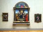 「玉座の聖母子と5聖人」