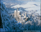 ノイシュバンシュタイン城の雪景色