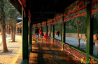 頤和園・長廊。全長728m、273間の回廊。