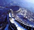 雪景色の金山嶺長城