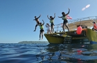 お次は海のウォータースポーツにトライ!