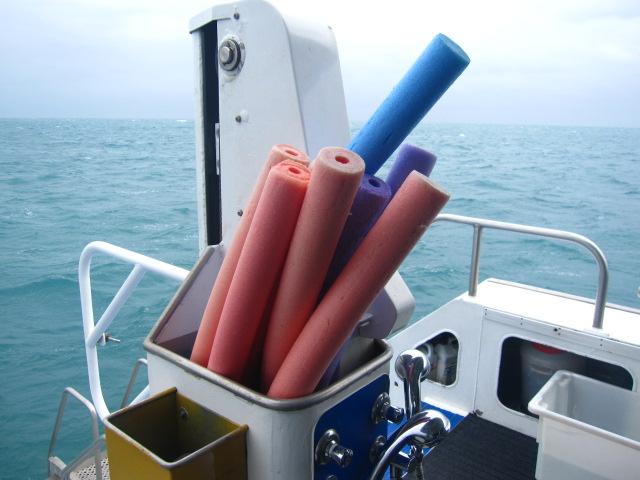 スノーケル用にこの浮きも無料で使えます