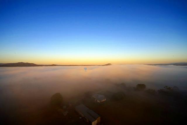 霧の上からの景色は最高!