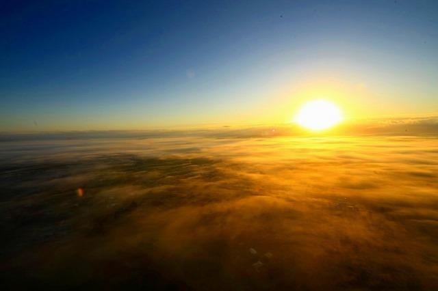 朝日とご対面