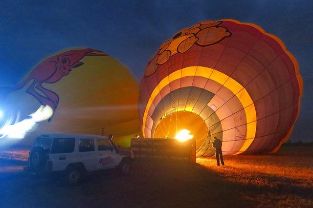 熱気球の準備
