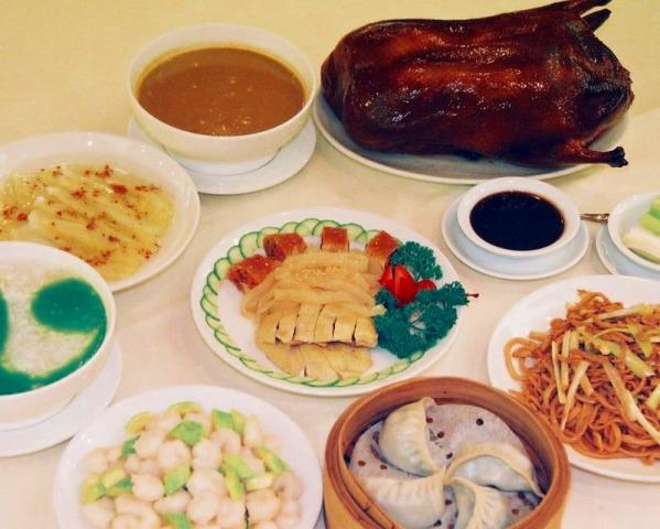 北京料理のセットディナー