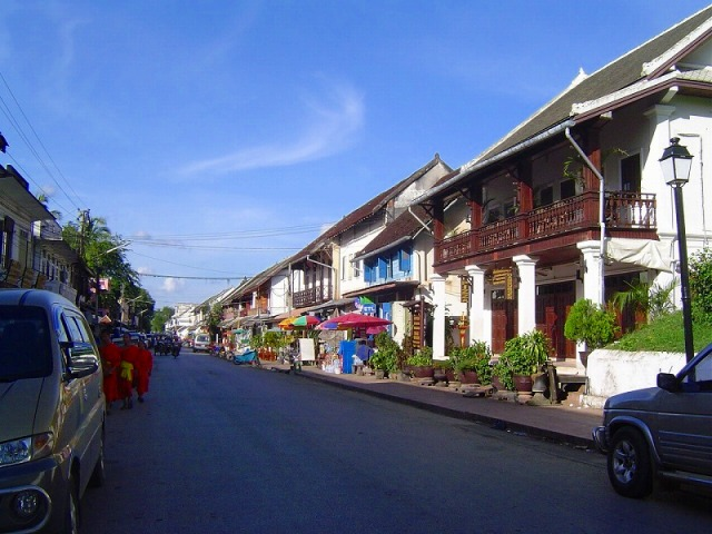 ルアンパバーンのメインストリート