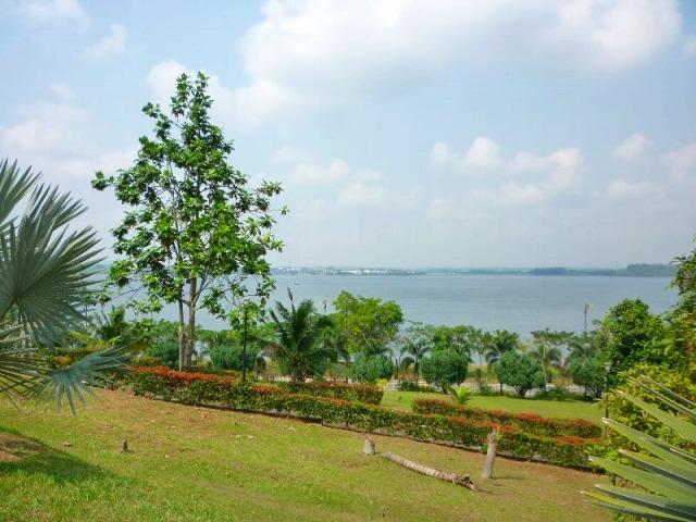 モスク裏手側より眺めると、対岸はシンガポール!