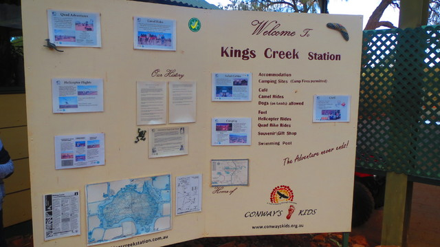 Kings Creek Station ここで朝食(自己負担)とトイレ休憩