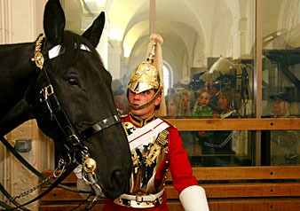 伝統的なロンドンの騎兵隊