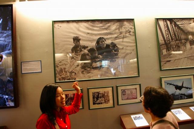 戦争証跡博物館内で