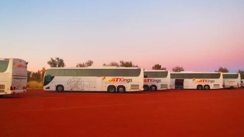 次々とバスがやってきます。自分のバス間違いないように!
