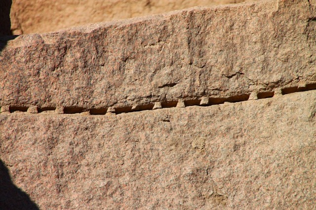 石切途中の跡