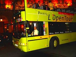 オープンバスに乗って!
