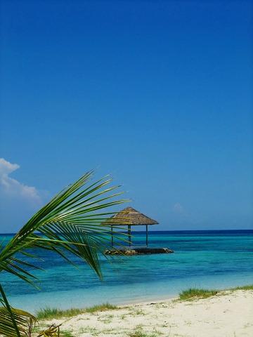 海の青が美しい