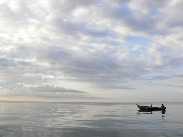 トンレサップ湖のゆうがな景色
