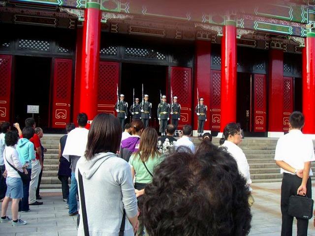 忠烈祠の衛兵交代式