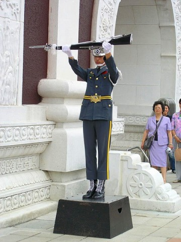 忠烈祠の衛兵