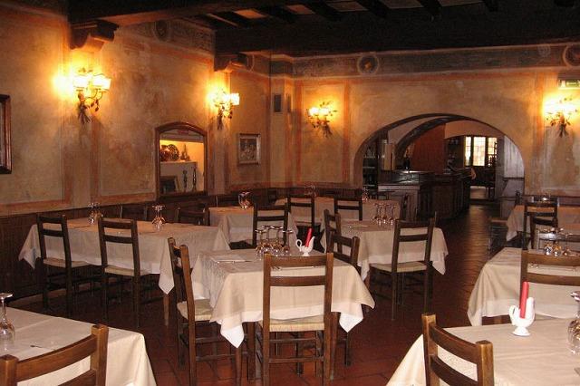 下町トラステヴェレにある老舗のレストランサバティーニ