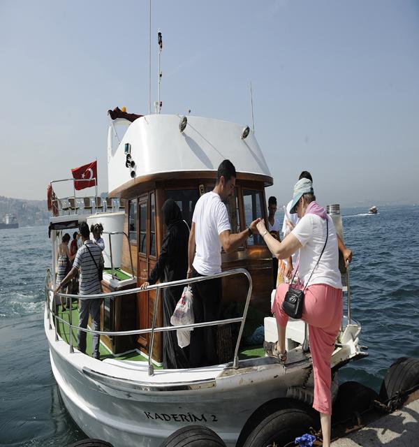 ボートに乗船