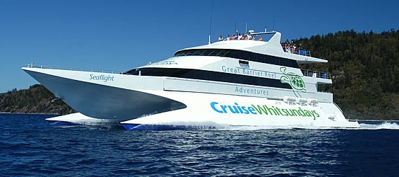 クルーズ・ウィットサンデーの船でクルーズ