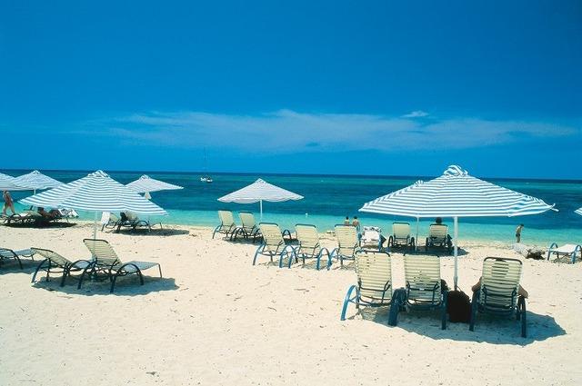 グリーン島のビーチ