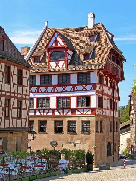 可愛い木組みのアルブレヒト・デューラー・ハウス