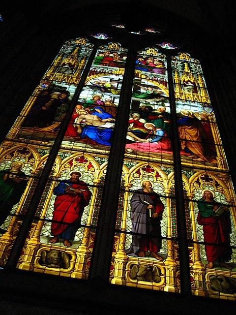 バイエルン王ルードヴィッヒ1世から贈られたステンドグラスの1つ