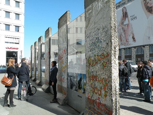 ポツダム広場の壁跡(Copyright (C) 2011MIKI Reisen GmbH All Rights Reserved)