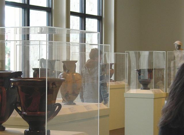 古代ローマ時代の遺跡の展示
