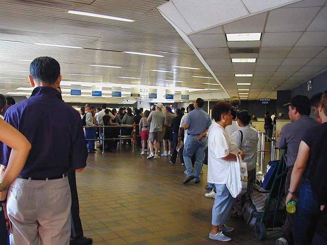 アメリカの入国検査