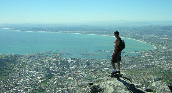 テーブルマウンテン山頂からの眺め
