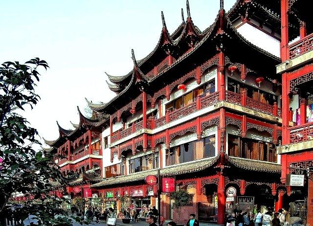 旧上海城の城下町「豫園商城」