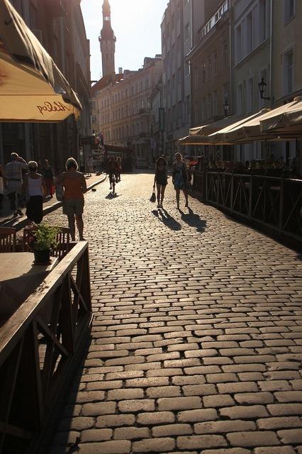 タリン旧市街は石の道