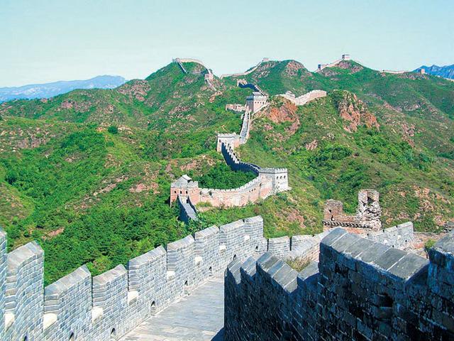 自然の緑が美しい長城