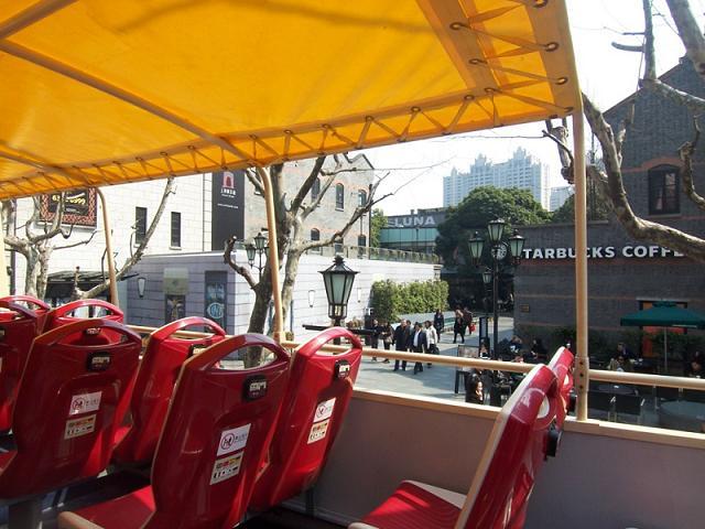 2階建てオープントップバス