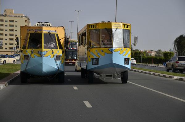 水陸両用バスです